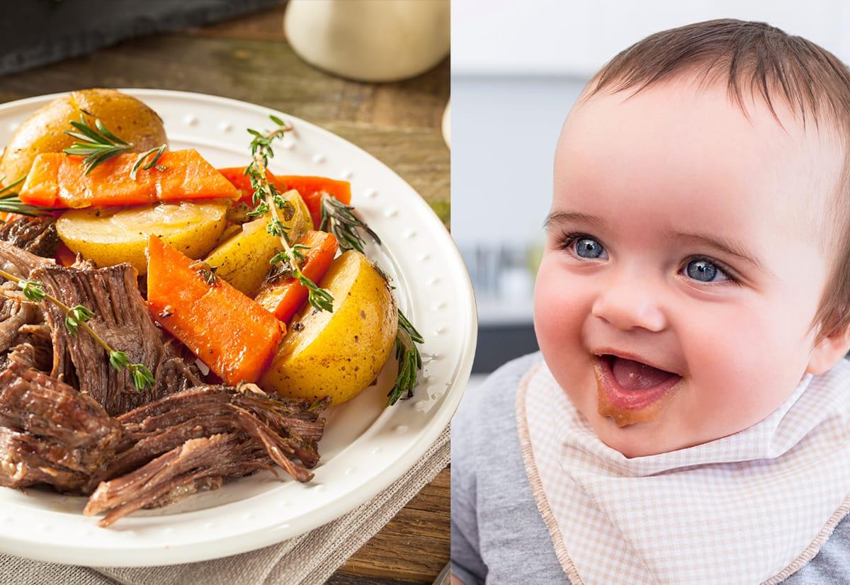De la ce vârstă poate bebelușul să mănânce carne de vită?